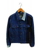 ()の古着「バイカラーデニムジャケット」|インディゴ