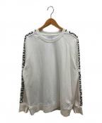 Calvin Klein Jeans(カルバンクラインジーンズ)の古着「サイドロゴクルーネックスウェット」 ホワイト