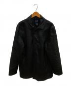 GAP(ギャップ)の古着「オールドレザーコート」|ブラック