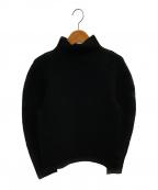 me ISSEY MIYAKE(ミー イッセイミヤケ)の古着「ストレッチプリーツカットソー」|ブラック