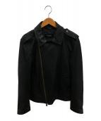 BURBERRY BLACK LABEL(バーバリーブラックレーベル)の古着「ラムレザージャケット」|ブラック