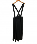 ENFOLD()の古着「サスペンダーロングスカート」|ブラック