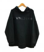 QALB()の古着「ラインデザインフーディ」|ブラック