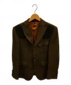 Barbour(バーブァー)の古着「ウールハンティング3Bジャケット」|カーキ