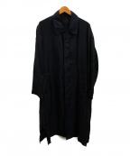 bukht(ブフト)の古着「フライフロントキュプラコート」 ブラック