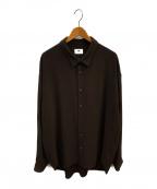 Soe(ソーイ)の古着「オーバーサイズシャツ」 ブラウン
