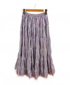 MARIHA()の古着「草原の虹のスカート」 ピンク