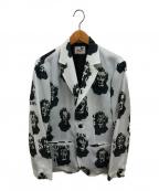 GANGSTERVILLE(ギャングスタービル)の古着「クイーンオブザナイトクラブズテーラードジャケット」|ホワイト