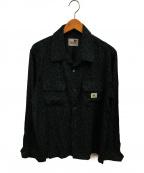 GANGSTERVILLE(ギャングスタービル)の古着「レーヨンチリメンシャツ」|グレー