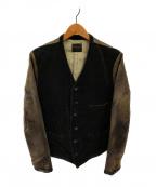 BY GLAD HAND(バイ グラッドハンド)の古着「ミグラントジャケット」|ブラック×ブラウン