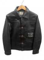 GANGSTERVILLE(ギャングスタービル)の古着「カウハイドステイシャープGジャケット」|ブラック