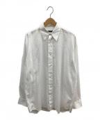 DRESSEDUNDRESSED(ドレスドアンドレスド)の古着「バックプリントオーバーサイズシャツ」 ホワイト