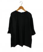 LOEFF(ロエフ)の古着「コットンストレッチブラウス」 ブラック