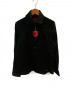 Vivienne Westwood RED LABEL(ヴィヴィアンウエストウッドレッドレーベル)の古着「オーブ刺繍オープンハートブラウス」|ブラック