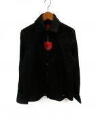 Vivienne Westwood RED LABEL(ヴィヴィアンウエストウッドレッドレーベル)の古着「オーブ刺繍ハートオープンハートブラウス」|ブラック