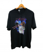 MSGM(エムエスジーエム)の古着「キャットプリントTシャツ」|ブラック