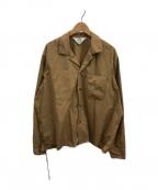 SUNSEA(サンシー)の古着「オープンカラーシャツ」 ベージュ