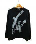 GROUND Y(グラウンドワイ)の古着「新デッサン画コロコログラフィックプリント」 ブラック