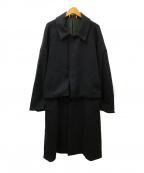 YOKE(ヨーク)の古着「3WAYバルカラーシェアコート」 ブラック