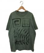 C.E(シーイー)の古着「オーバーダイスタンププリントTシャツ」|グリーン