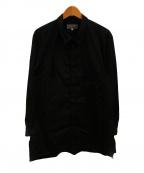 YohjiYamamoto pour homme(ヨウジヤマモトプールオム)の古着「ブロードロングタブシャツ」|ブラック