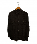 Y's for men(ワイズフォーメン)の古着「レーヨンシャツ」|ブラウン