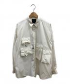DAIWA PIER39(ダイワ ピアサーティンナイン)の古着「マルチポケットイージーシャツ」 ホワイト