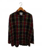 SHAREEF(シャリーフ)の古着「タータンチェックシャツ」 レッド