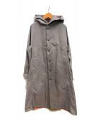 ()の古着「ポリパンチングフードコート」 グレー