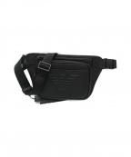 EMPORIO ARMANI(エンポリオアルマーニ)の古着「PVCツイルベルトバッグ」|ブラック