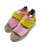 KENZO(ケンゾー)の古着「スポーティエスパドリーユサンダル」|ピンク×イエロー