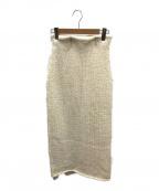 CASA FLINE(カーサフライン)の古着「スーパーローゲージニットスカート」|アイボリー