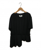 MM6 Maison Margiela(エムエムシックス メゾンマルジェラ)の古着「プリーツヘムブラウス」|ブラック