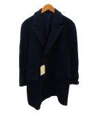 ()の古着「ダブルブレステッドウールコート」 ネイビー