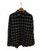ALLEGE(アレッジ)の古着「ニードルパンチチェックシャツ」 ブラック