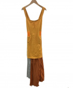 TOGA ARCHIVES(トーガアーカイブス)の古着「キャミソールランダムプリーツワンピース」|オレンジ