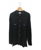 ()の古着「パイルウエスタンシャツ」 ブラック