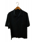 ()の古着「シルクオープンカラーシャツ」 グレー