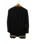 ()の古着「ロングテーラードコート」 ブラック