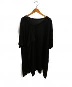 GROUND Y(グラウンドワイ)の古着「ラッセルコットンロングTシャツ」 ブラック