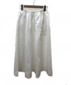 Plage(プラージュ)の古着「サテンギャザースカート」|ホワイト