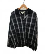 SUNSEA(サンシー)の古着「チェックジゴロシャツ」 ブラック