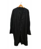 ()の古着「カラーレスコート」|ブラック