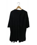 ()の古着「タックドカラー Tシャツ」|ブラック