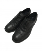 GIORGIO ARMANI(ジョルジョアルマーニ)の古着「型押ウィングチップシューズ」|ブラック