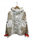 DIESEL()の古着「マウンテンパーカー」|ホワイト×ベージュ