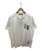 ()の古着「NBAフロントアンドバックレタープリントTシャツ」 ホワイト