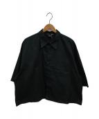 ()の古着「ワイドショートシャツ」 ブラック