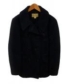 ()の古着「サージPコート」 ネイビー
