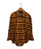 ()の古着「レタープリントシャツ」 レッド×イエロー